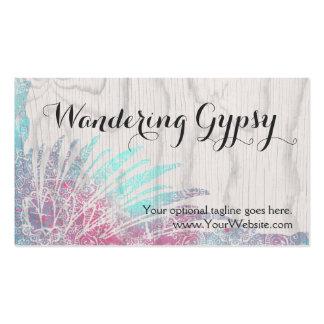 Bohemian Boho Feathers - Wandering Gypsy Business Card