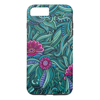 Bohemian Boho MOD Hippy Chic Flower Pattern iPhone 8 Plus/7 Plus Case