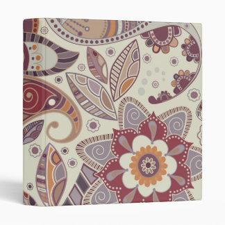 Bohemian Boho MOD Hippy Chic Flower Pattern Vinyl Binders