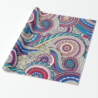 Bohemian Boho MOD Pattern Wrapping Paper