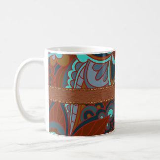 Bohemian, Brown and Teal Mug