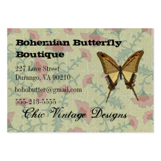 Bohemian Butterfly Boutique Floral Business Cards