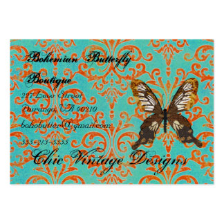 Bohemian Butterfly Boutique Turqoise & Orange Dama Pack Of Chubby Business Cards
