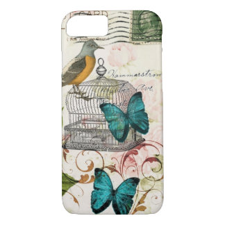 bohemian chic butterfly birdcage french bird iPhone 8/7 case