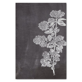 Bohemian Chic french country chalkboard botanical Tissue Paper