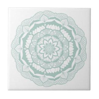 Bohemian Chic Henna Mehendi Mandala Pattern Tile