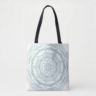 Bohemian Chic Henna Mehendi Mandala Pattern Tote Bag