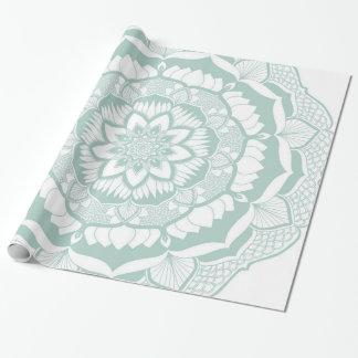 Bohemian Chic Henna Mehendi Mandala Pattern Wrapping Paper