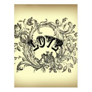 bohemian chic old fashion flourish swirls ornate postcard