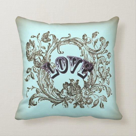 bohemian chic old fashion flourish swirls ornate throw pillow