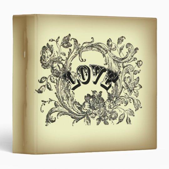 bohemian chic old fashion flourish swirls ornate vinyl binders