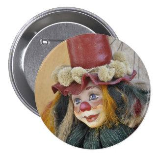 Bohemian Clown Button