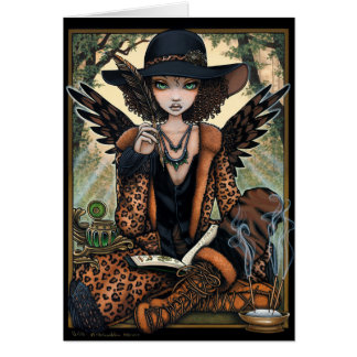 Bohemian Creole Nature Shaman Ethnic Angel Willa Card