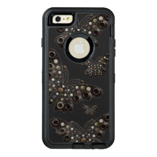 Bohemian Dark Leather Butterfly 6/6s Case