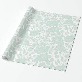 Bohemian elegant blush green white stylish floral wrapping paper