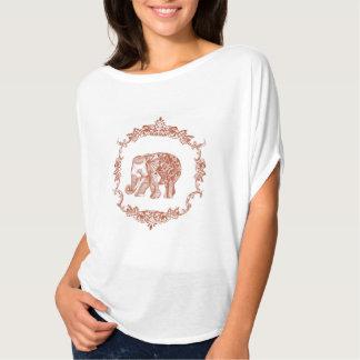 Bohemian elephant orange shirt