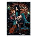 Bohemian Fairy Song Writer Peacock Chair Aria Greeting Card