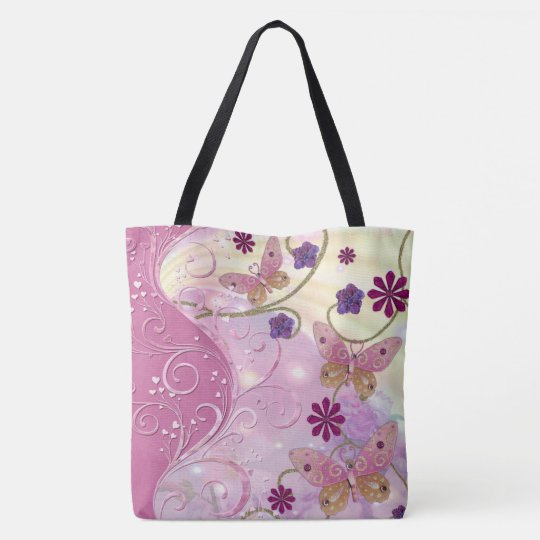 Bohemian Fairy Tale Folk Art Jewelled Tote Bag
