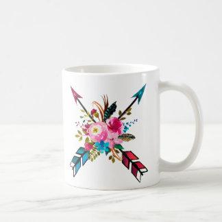 Bohemian Floral Arrow Mug