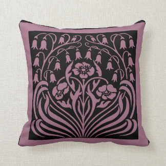 Bohemian Floral Nouveau Throw Pillow
