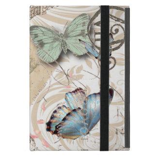 bohemian floral shabby chic parisian eiffel tower iPad mini cover