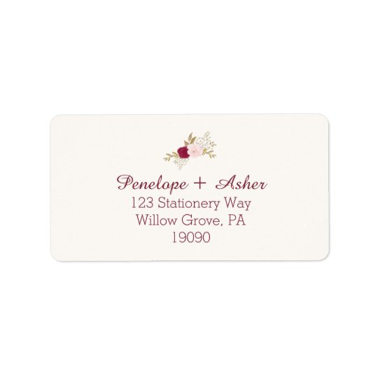 Bohemian Floral Wedding Address Labels