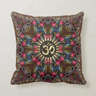 Bohemian Geo-Fractals Vintage OM Sign Cushion