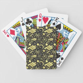 Bohemian Gold Diamonds and Swirls Pattern Bicycle Playing Cards