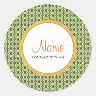 Bohemian Green Envelope   Merchandise Seal Round Sticker