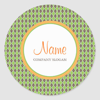 Bohemian Green Envelope | Merchandise Seal Round Sticker
