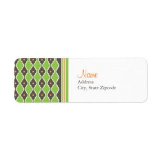 Bohemian Green Return Address Label