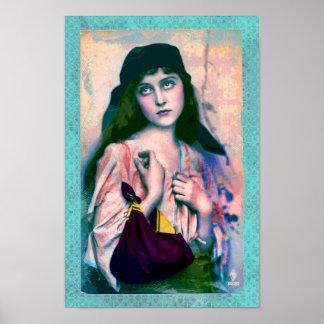 Bohemian Gypsy Girl Print