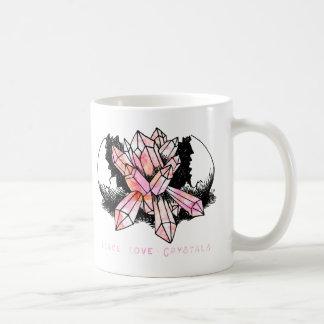 Bohemian Hand Drawn Crystal Cluster Artwork Coffee Mug