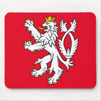 Bohemian heraldic lion mouse pad