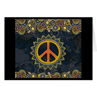 Bohemian Hippy Peace Sign Greeting Card