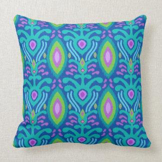 Bohemian Ikat Blue Throw Pillow