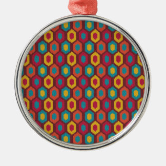 Bohemian Ikat Metal Ornament