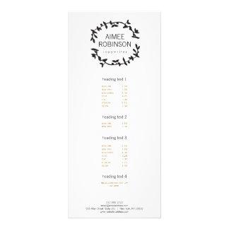 BOHEMIAN LEAF WREATH LOGO in BLACK & WHITE Rack Card