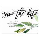 Bohemian Leaves Save the Date Photo Postcard