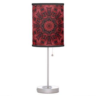 bohemian moroccan maroon burgundy mandala table lamp