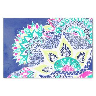 Bohemian navy floral mandala paisley watercolor tissue paper