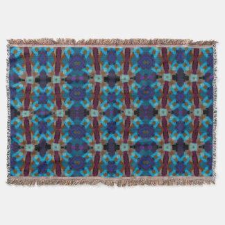 Bohemian ornament in ethno-style, Aztec Throw Blanket