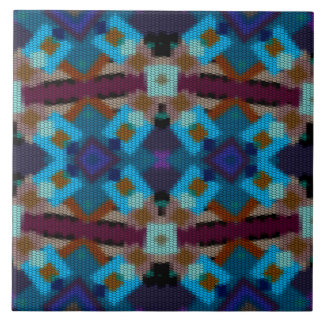 Bohemian ornament in ethno-style, Aztec Tile