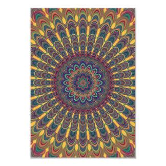 Bohemian oval mandala card