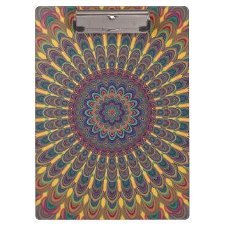 Bohemian oval mandala clipboard