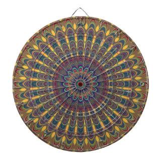 Bohemian oval mandala dartboard