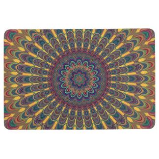 Bohemian oval mandala floor mat