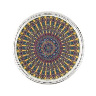 Bohemian oval mandala lapel pin