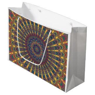Bohemian oval mandala large gift bag