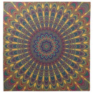 Bohemian oval mandala napkin